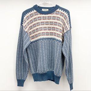 Munsing Wear Vintage Fair Isle Sweater Size XL